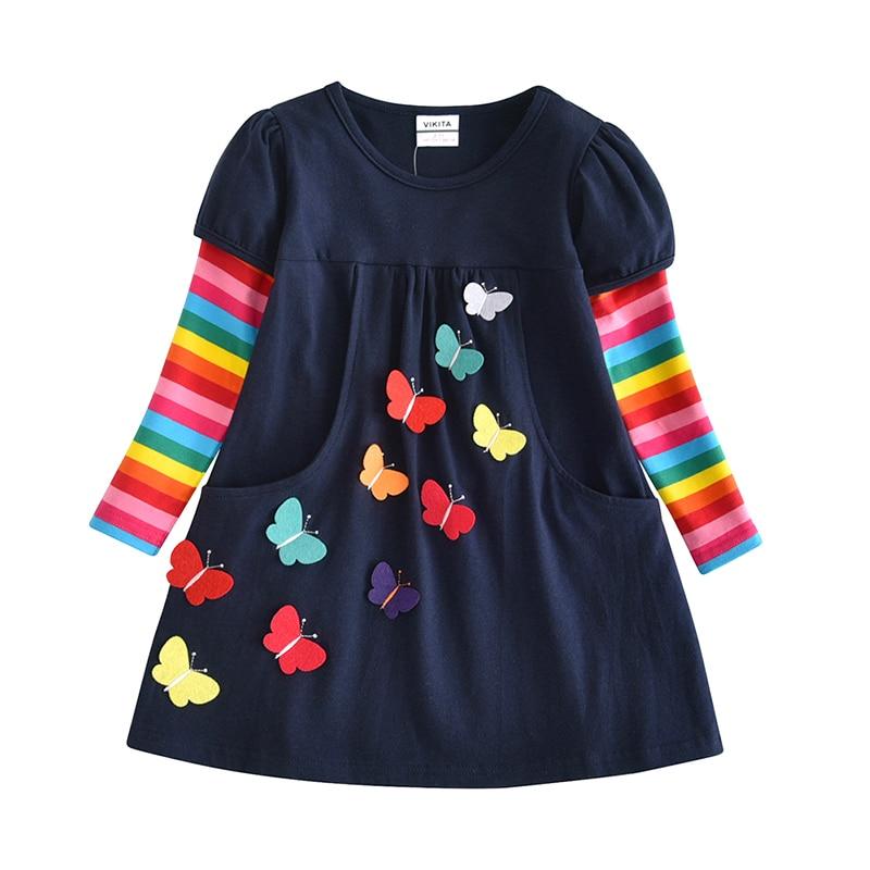 HTB1SKGEXoLrK1Rjy0Fjq6zYXFXam VIKITA Kids Girls Dress Baby Children Toddler Princess Dress Vestidos Children's Clothing Girls Winter Dresses 2-8Y LH5805 MIX