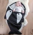 New Ins Baby sleeping Shark Bag winter Envelope for newborns sleep sack Cotton kids sleepsack in the carriage wheelchairs