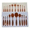 Oval grande Pincel de Maquillaje cepillo de Dientes Kit de Maquillaje Urban Contour Blush Cara Limpiador de Cepillo de Cejas maquillaje Herramientas de Belleza Cosméticos Kit