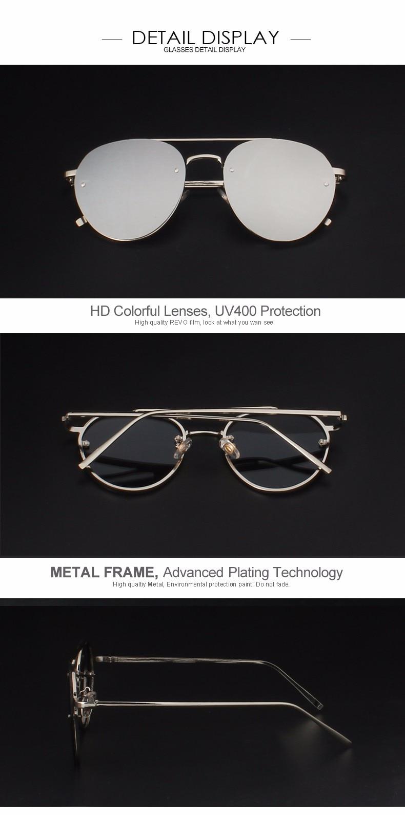 ea2f19388 POLYREAL النساء بدون شفة الطيران النظارات الشمسية الرجال الأزياء مرآة  الطيار نظارات شمسية ل الذكور القيادة نظارات الرؤية الليلية