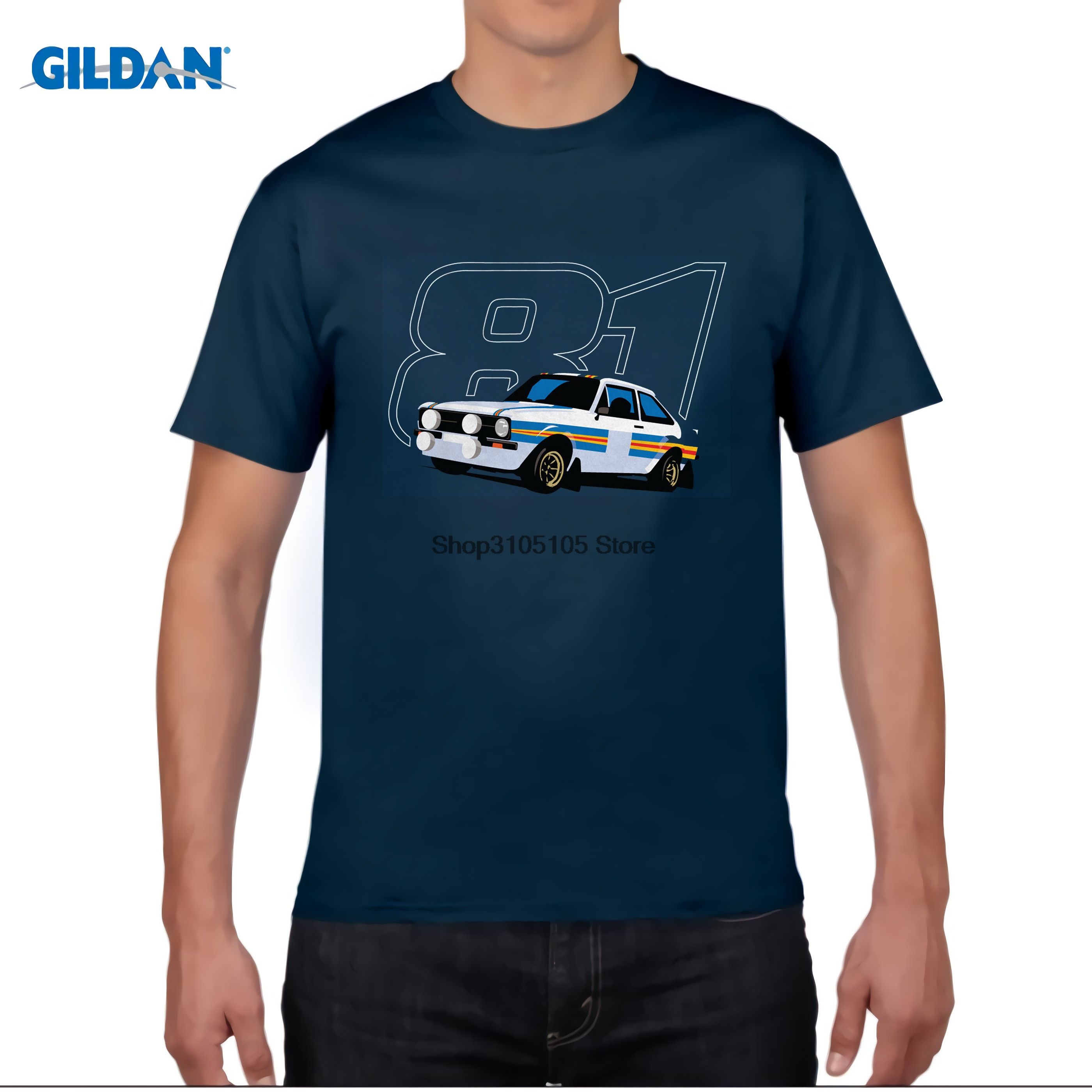 GILDAN Mk2 Escort RS1800 81 Rally Car T Shirt - Birthday Gift for Dad Fathers Day Cool Casual Sleeves Cotton T-Shirt