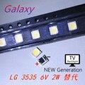 3535 6 в холодный белый для LG SMD LED CHIP-2 2 Вт для телевизора/ЖК подсветки телевизора применение 60 шт./лот
