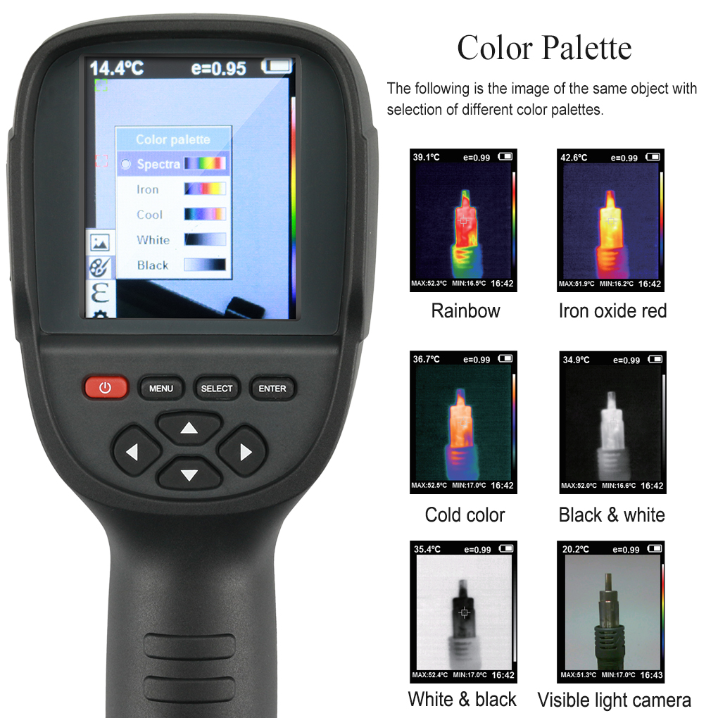 HT-02 Handheld Thermal Imaging Camera With Digital Display For Temperature Measuring 14