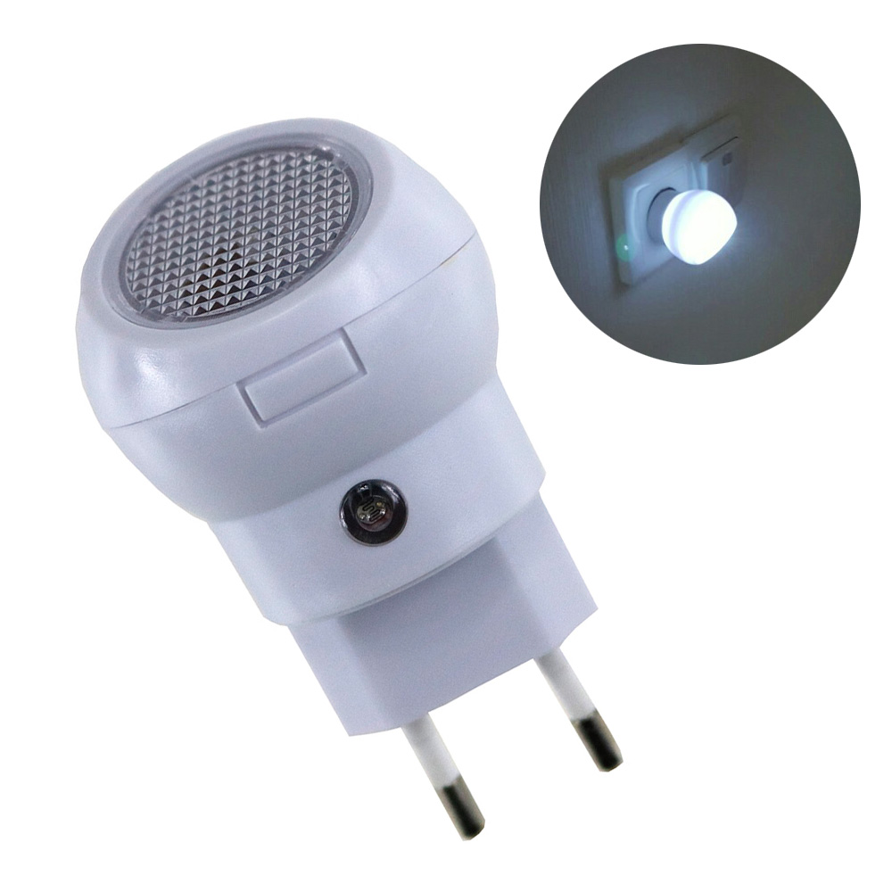 EU Plug LED Night Light 360Degree Rotating Auto Sensor  Lighting Control Lamp 110V 220V Nightlight Bulb For Baby Bedroom Gift