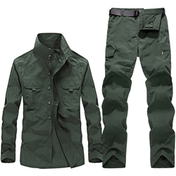 Men Military Clothing Tactical Uniforms Summer Quick Dry Shirts Cargo Pants Army Combat Suit Work Hunt Clothing Sets