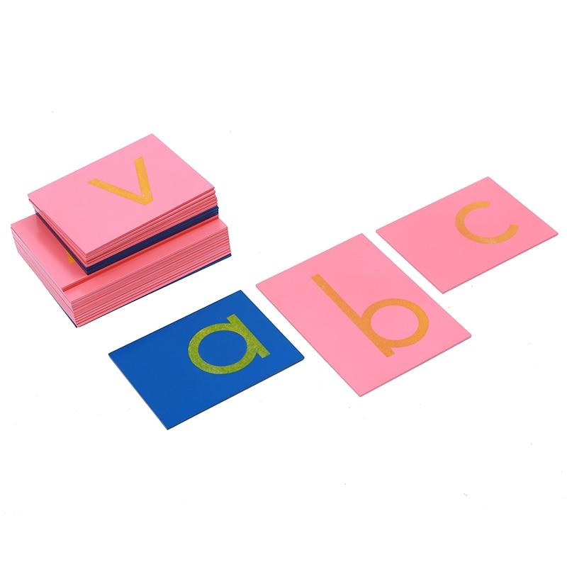Bébé Jouet Montessori Langue Minuscules Papier de Verre Lettres Imprimer Traçage Conseil en Début de Préscolaire Brinquedos Juguetes - 5
