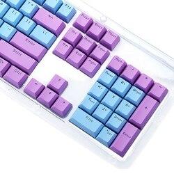Translucent Double Shot PBT 104 KeyCaps podświetlany dla przełącznika klawiatury Cherry MX