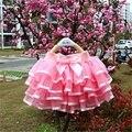 Chicas Mullido 4-12 Años de La Gasa Sólido Colores faldas del tutú de la muchacha de Baile Falda Enagua de Tul de Navidad Arco Iris Falda de Tul falda