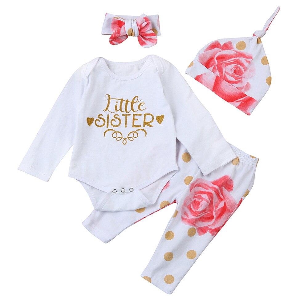 Muqgew bebé ropa niña pequeña hermana romper Tops + floral ...