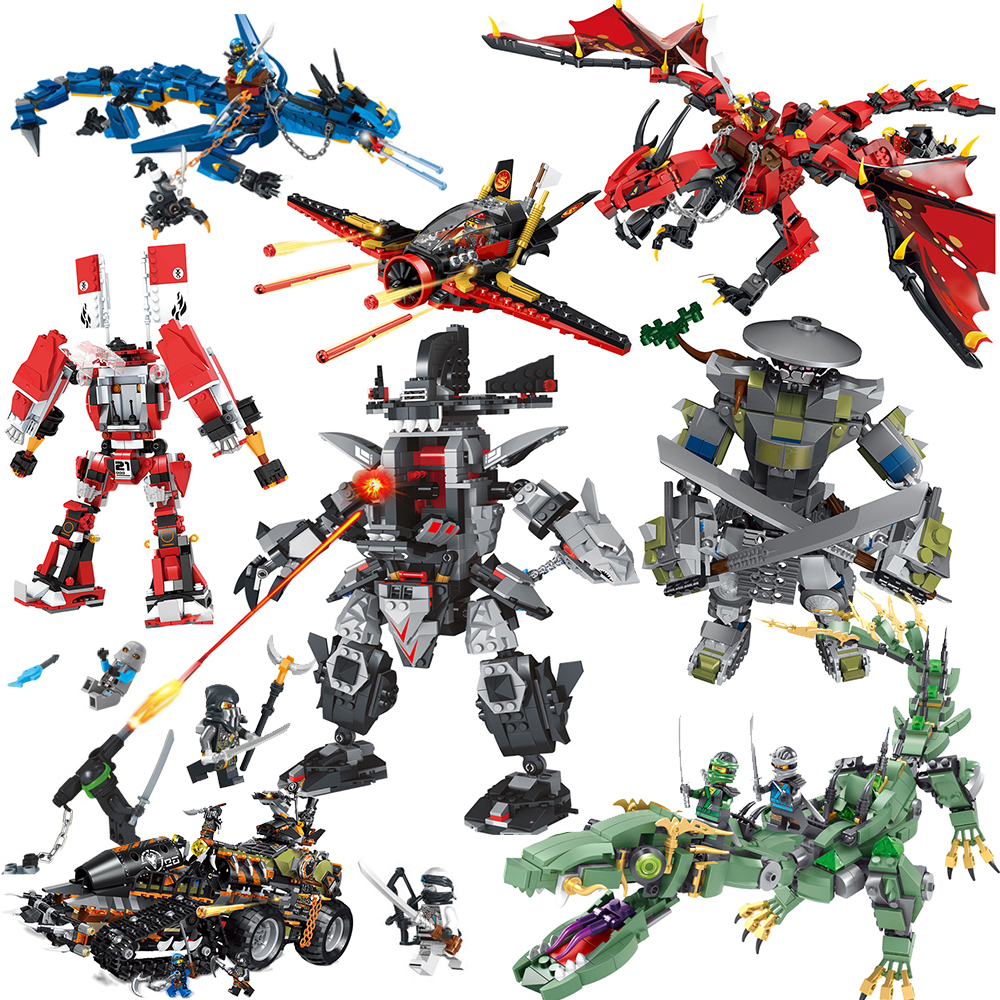 Fire Dragon Man Robots Friends Ninjagoed Series Building Blocks  Compatible With LegoINGLYS  Bricks Figures Toys For Children