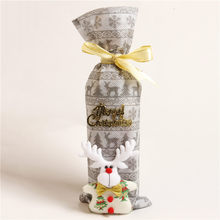 Christmas Decorations For Home Santa Claus Wine Bottle Cover Bag Santa Sack Noel Decoration New Year Festive Supplies(China)