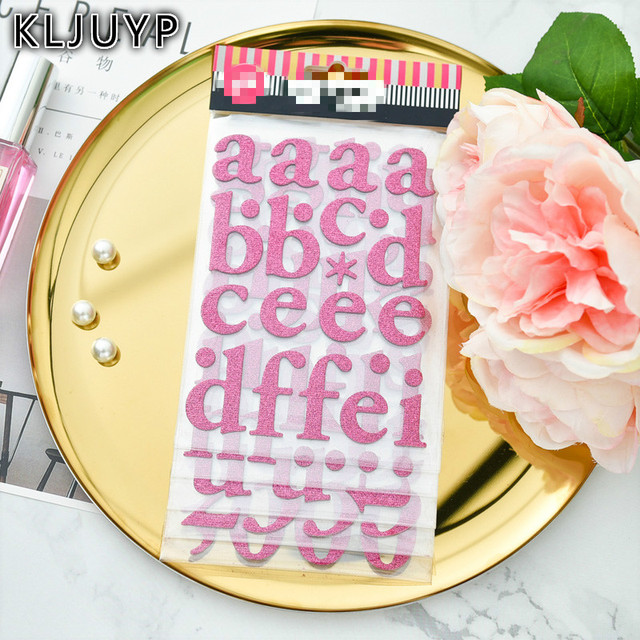Kljupy rose letters 3d die cut self adhesive stickers for scrapbooking happy planner card