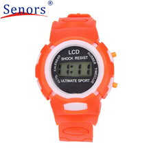 Dropshipping Boys Girls Students Time Clock Electronic Digital LCD Wrist Sport Watch relogio masculino Dropshipping
