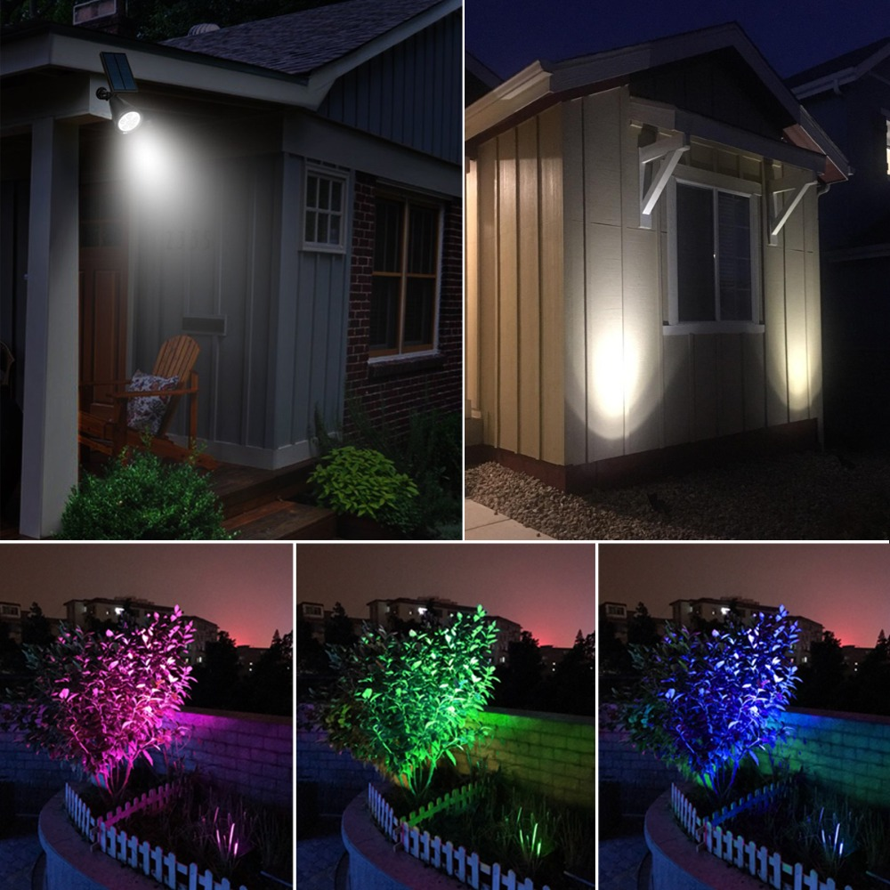 Us 19 6 30 Off 7 Led Rgb Solar Lawn Lamp Outdoor Garden Flood Light Waterproof Spotlight Landscape Lighting Night Sensor Street Wall In
