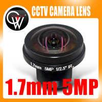 Nueva panorámica de 360 grados de ojo de pez lente gran angular HD 5MP M12 lente de la Cámara 1,7mm lente panorámico Cámara FPV HD lente