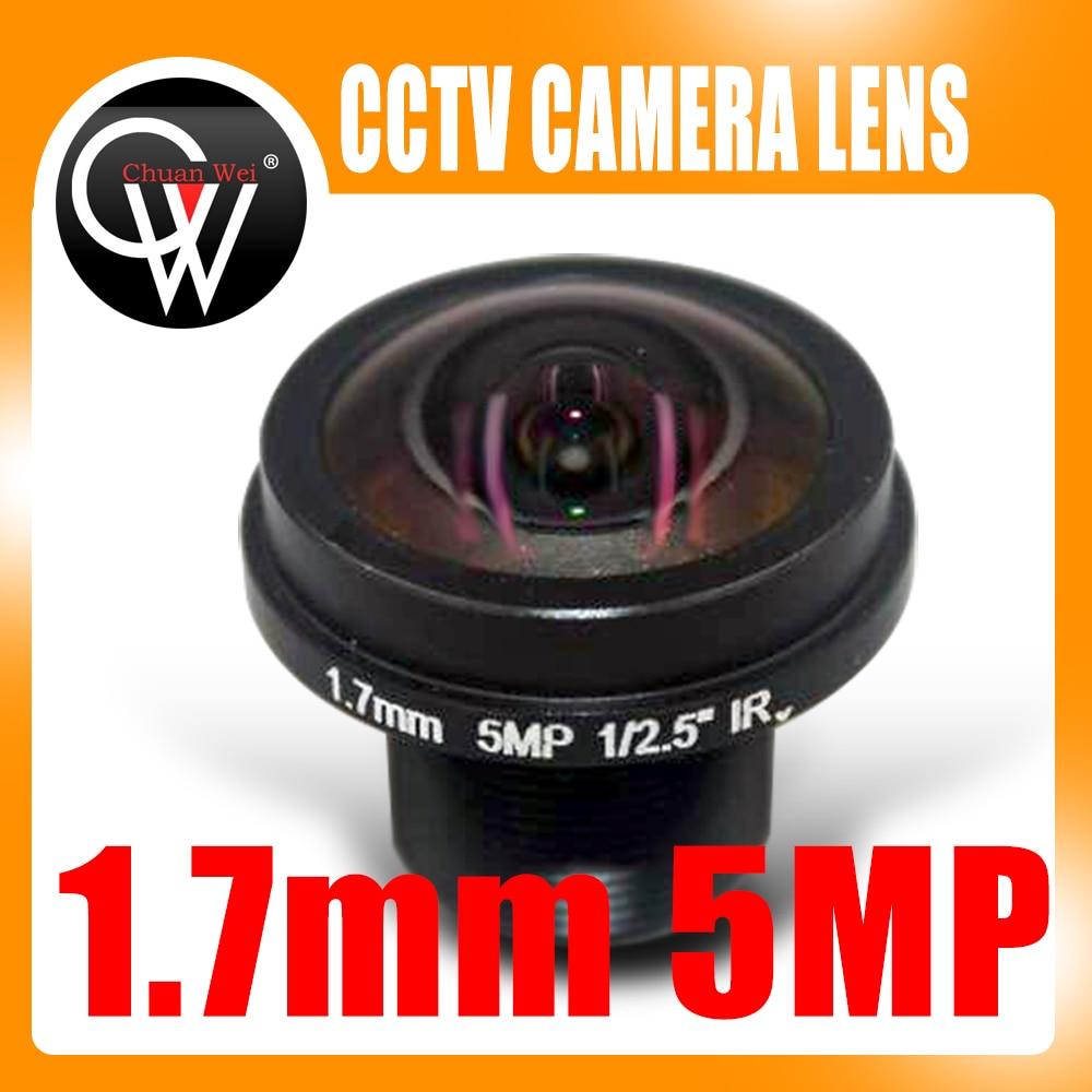 Noua lentilă panoramică de 360 de grade cu unghi larg HD 5MP M12 lentilă pentru cameră 1.7mm lentilă panoramică FPV Cameră HD