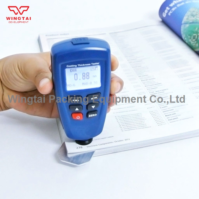 BGD540 Digital Paint Coating Thickness Tester Meter Range 0-1250 F/N Probe Coating Paint Thickness Gauge gm211 2in1 film coating thickness gauge meter 0 1500um non magnetic surface paint coatings thickness measurement can metal paint