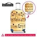 Música Cubierta Spandex Impermeable Carro de Equipaje equipaje Maleta Cubiertas protectoras para Niñas geométrica cubierta del bolso de 18-30 pulgadas
