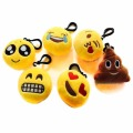 Cute Emoji Smiley Emoticon Amusing Car Motorcycle Bicycle Key Chain Soft Toy Gift Pendant Bag Accessory Keychains Phone Straps