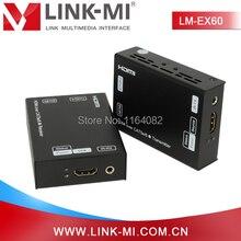 LINK-MI LM-EX60-3DIR 3D 1080p HD Video 60m HDMI IR Extender Over Single Cat5e/6 Cable 60m HDMI Extensor