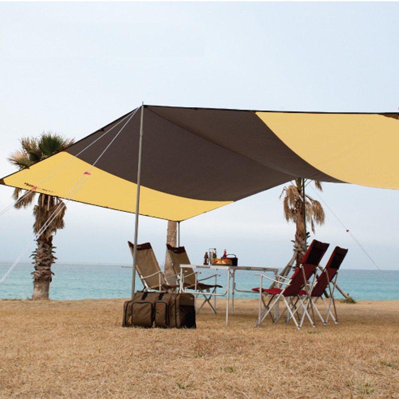420*420cm Outdoors Camping Tent Sunshade Fluffy Beach Gazebo Party Travel 210D Waterproof Portable Sunscreen Rain-proof Canopy