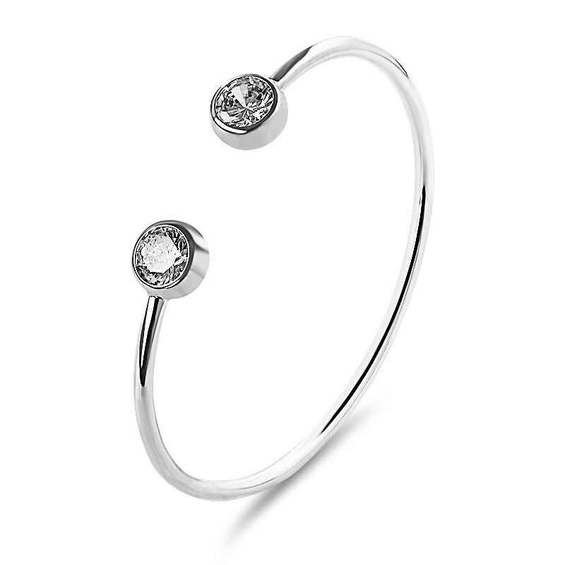 2020 nuevo y delicado Micro Cristal de incrustación de oro rosa brazaletes abiertos para mujer brazalete pulsera pulseras pulseira feminina