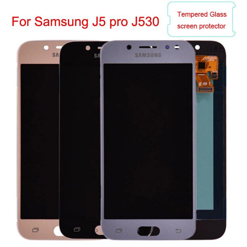 J530 Amoled LCD Pour Samsung Galaxy J5 pro 2017 J530Y J530F LCD Affichage à L'écran Tactile Digitizer Assemblée lcd pour J5 duos 5.0 pouce