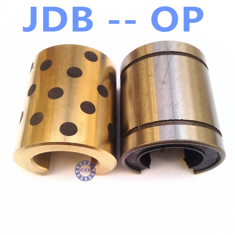 OP JDB 406080 copper sleeve the same size of LM40 OP linear Solid inlay graphite Self-lubricating bearing lm40uu solid inlay graphite self lubricating linear bearings bushings without oil graphite copper sleeve 40 60 80