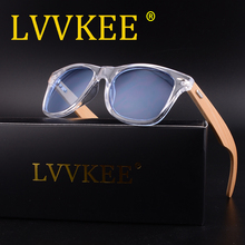 LVVKEE Retro Wood Sunglasses Men Bamboo Sunglass Women Brand Design Sport Goggles Clear Ocean Sun Glasses Shades lunette Oculo