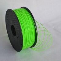 Groene kleur 3d printer filament PLA/ABS 1.75mm/3mm 1 KG groothandelsprijs