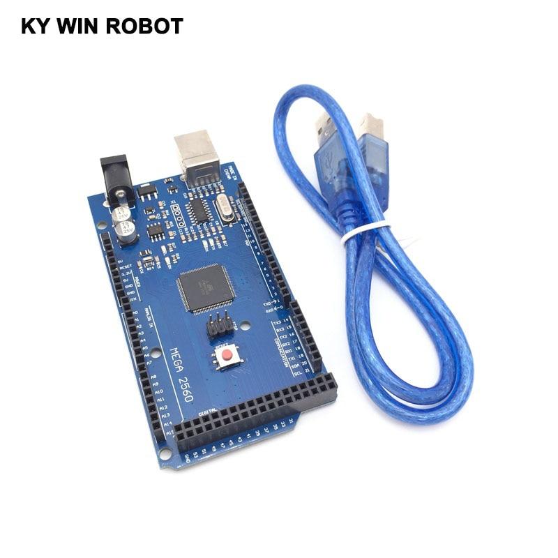 Mega 2560 R3 Mega2560 REV3 (ATmega2560-16AU CH340G) Placa EM Cabo USB Compatível para Arduino Com Cabo USB
