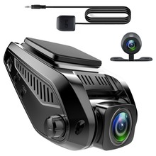 hot deal buy car dvr camera hidden driving recorder hd dual lens car vehicle front rear camera 2.4 inch wide angle vehicle video recorder