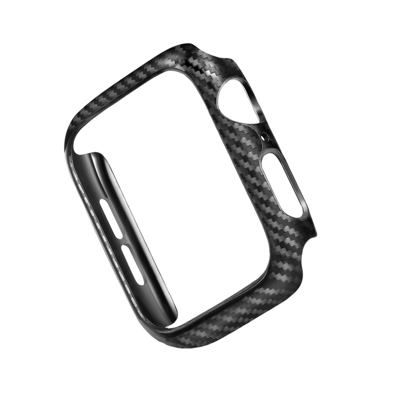 Frame Carbon Protective Case For Apple Watch 4 bands 42mm 38mm 44mm 40mm watch covers Bumper for iwatch series 3 2 1 Accessories in Smart Accessories from Consumer Electronics
