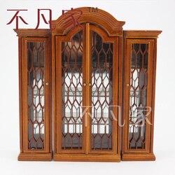 Dollhouse 1/12 scale mobili in miniatura intagliato a mano combinato vetrina