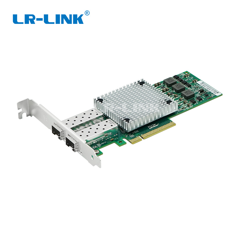 LR-LINK 9812AF-2SFP + 10 Гб волоконно-оптический адаптер ethernet двойной порт PCI Express сети lan плата Broadcom BCM57810S Nic