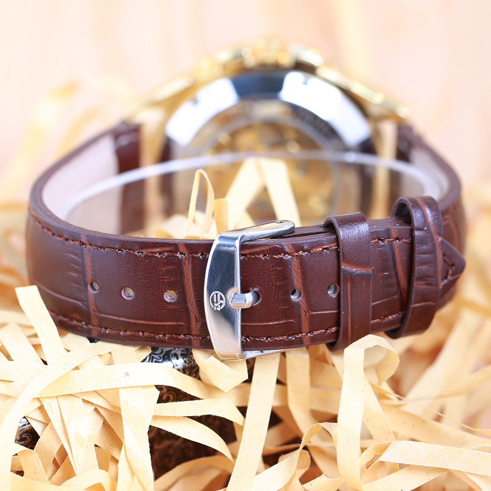 FORSINING Business Men Automatiska Mekaniska Watch Leather Strap - Herrklockor - Foto 6
