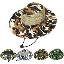 Открытый Кемпинг Boonie военный, камуфляж, Охота путешествия широкие карнизы ведро стиль Рыбак Пешие прогулки шапки спортивная летняя шляпа от солнца