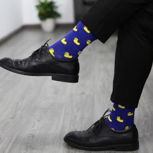 Image 4 - Match Up Men Cartoon Cotton  Socks  Art Patterned Casual Crew Socks 5 Pack Shoe Size 6 12