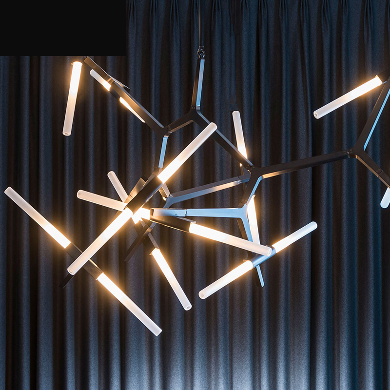 Creative Tree Chandelier Nordic Personality Living Room Bedroom Art Restaurant Glass Industrial Cafe Branches Lamps led fixture