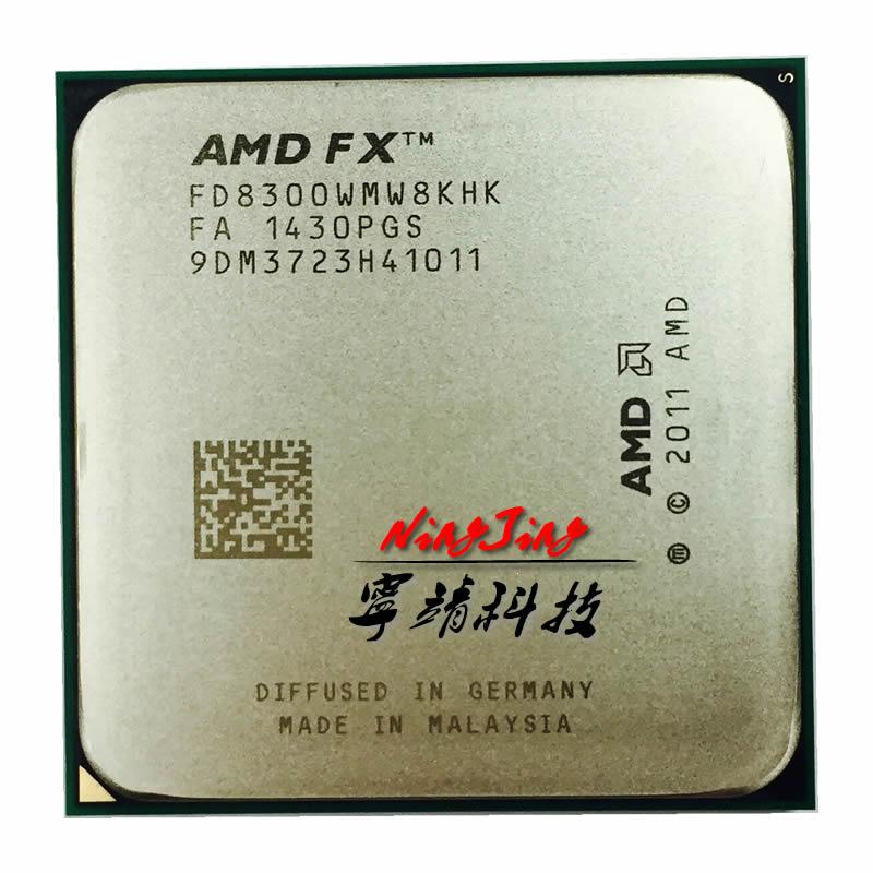 Amd FX-8300 fx 8300 fx8300 3.3 ghz oito-núcleo 8 m processador soquete am3 + cpu 95 w pacote a granel FX-8300