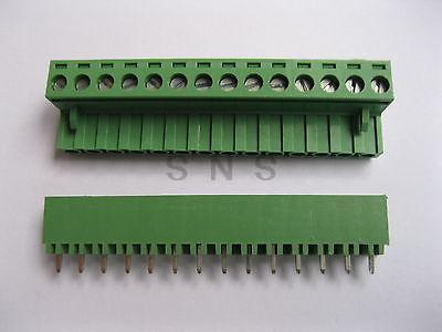 30 pcs Green 14 pin 5.08mm Screw Terminal Block Connector Pluggable Type 50 pcs 3 81mm pitch 3 pin straight screw pluggable terminal block plug connector