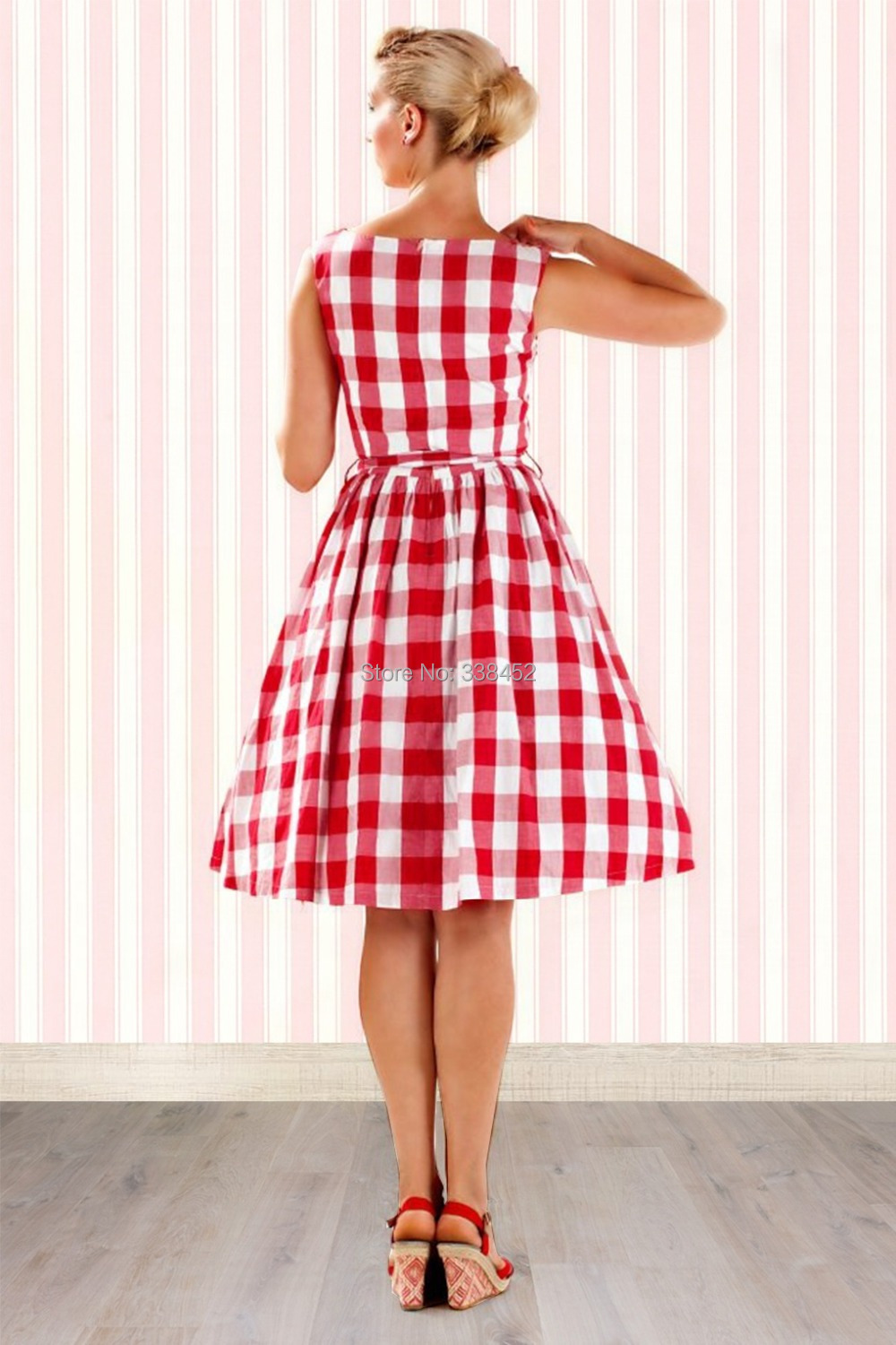Cute Vintage 1950\'s Rockabilly Hepburn Classic Iconic Style Red ...