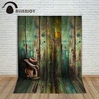 Photo Studio Backdrop Baby 6 5x10ft 200x300cm Cowboy Hat Cowboy Boots Wood Wallpaper Toile De Fond