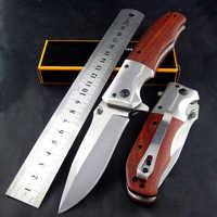 Folding knife 3Cr13 Blade Rosewood Handle Tactical Knife Pocket Camping Tool Hunting Knife Survival knives SDIYABEIZ