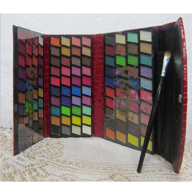 Fashion Clutch Pattern Cosmetic Eyeshadow Palette Pro 120 Full Color Shimmer Glitter Eyeshadow Mineral Makeup Set Kit