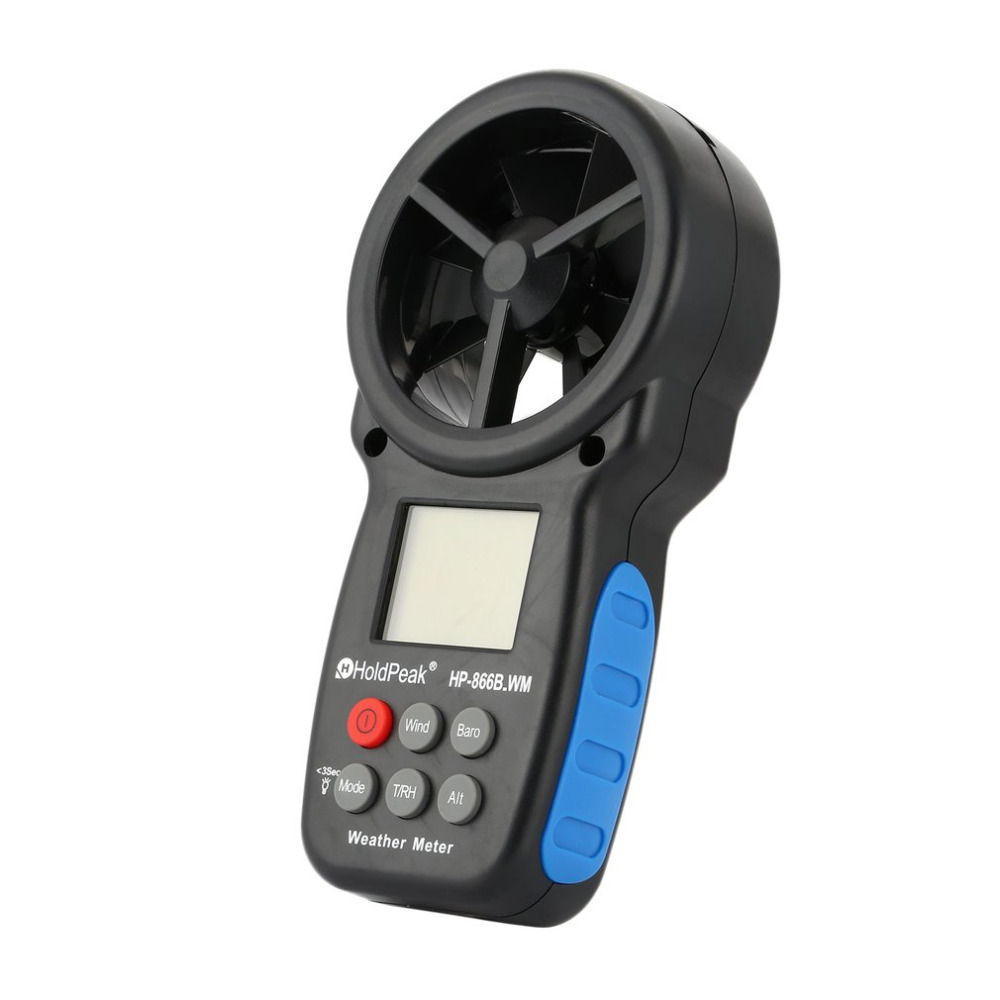 HoldPeak HP 866B WM Digital Anemometer Electronic Wind Speed Temperature And Wind Chill Meter Hand held Measure Tool
