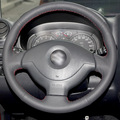 Black Artificial Leather DIY Hand-stitched Steering Wheel Cover for Suzuki Jimny Car Special