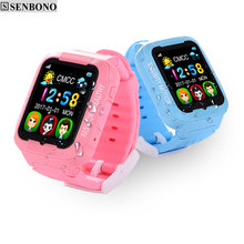 SENBONO Kids bluetooth K3 smart watch children GPS LBS AGPS watch support SIM TF card Voice intercom camera Wearable devices(China)