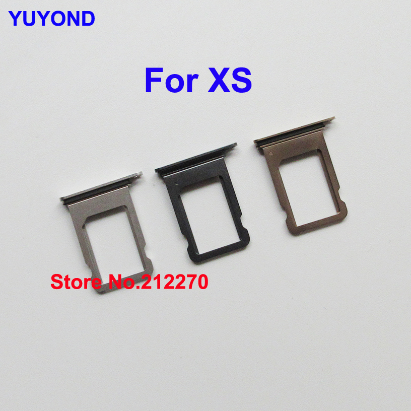 YUYOND Original New Single Sim Card Tray Slot Holder For iPhone XS With Waterproof Rubber Gasket