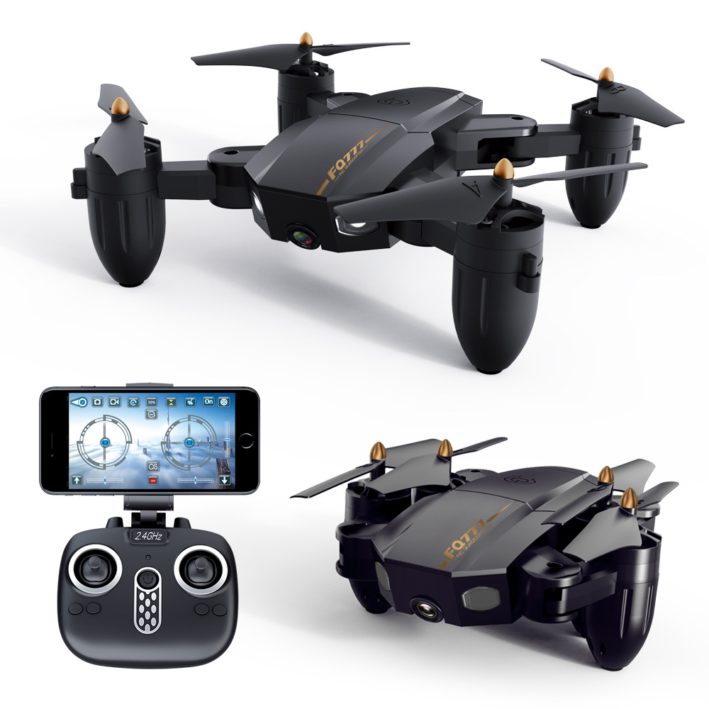 Folding drone Mini UAV WIFI aerial photography Fixed high Remote control Aircraft toys-in RC Helicopters from Toys & Hobbies